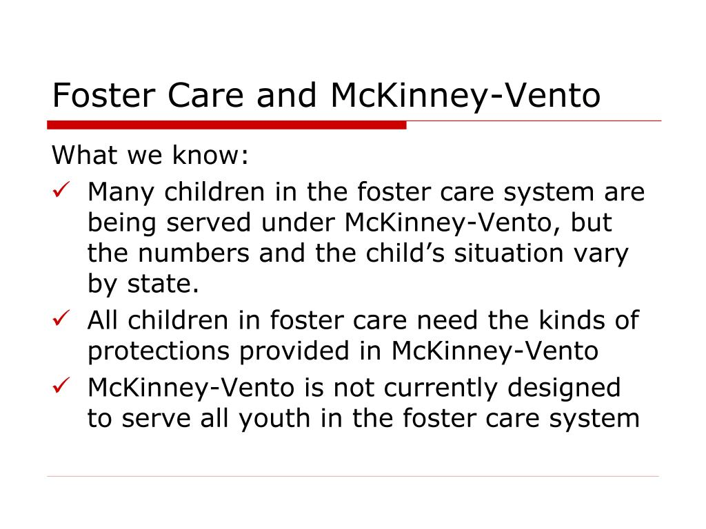 Foster Care and McKinney-Vento