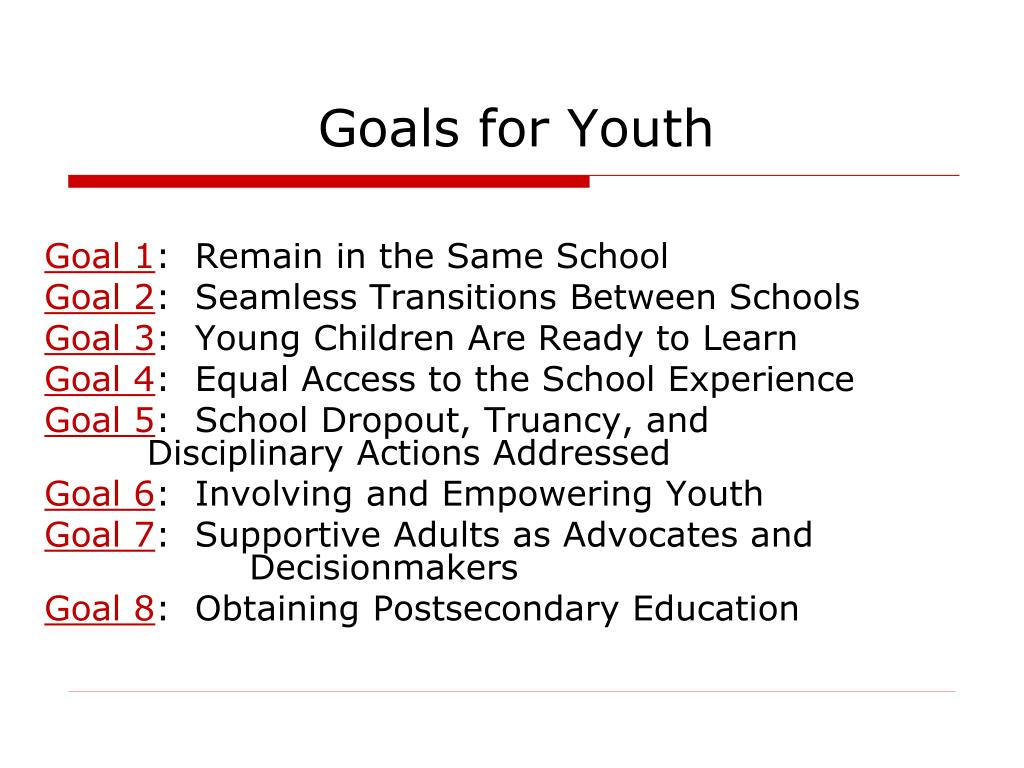 Goals for Youth