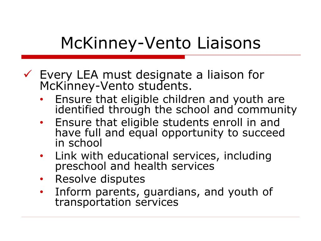 McKinney-Vento Liaisons