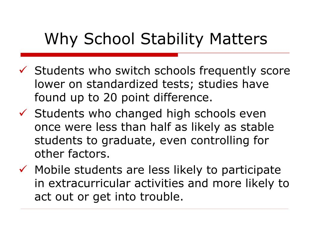 Why School Stability Matters