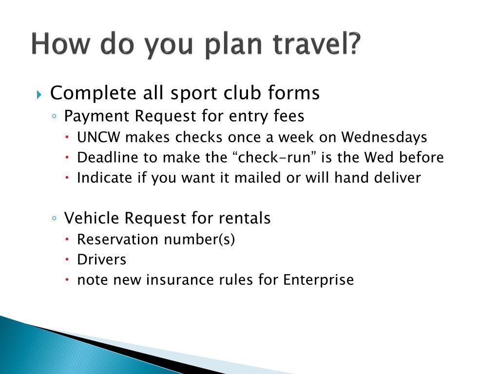 How do you plan travel?