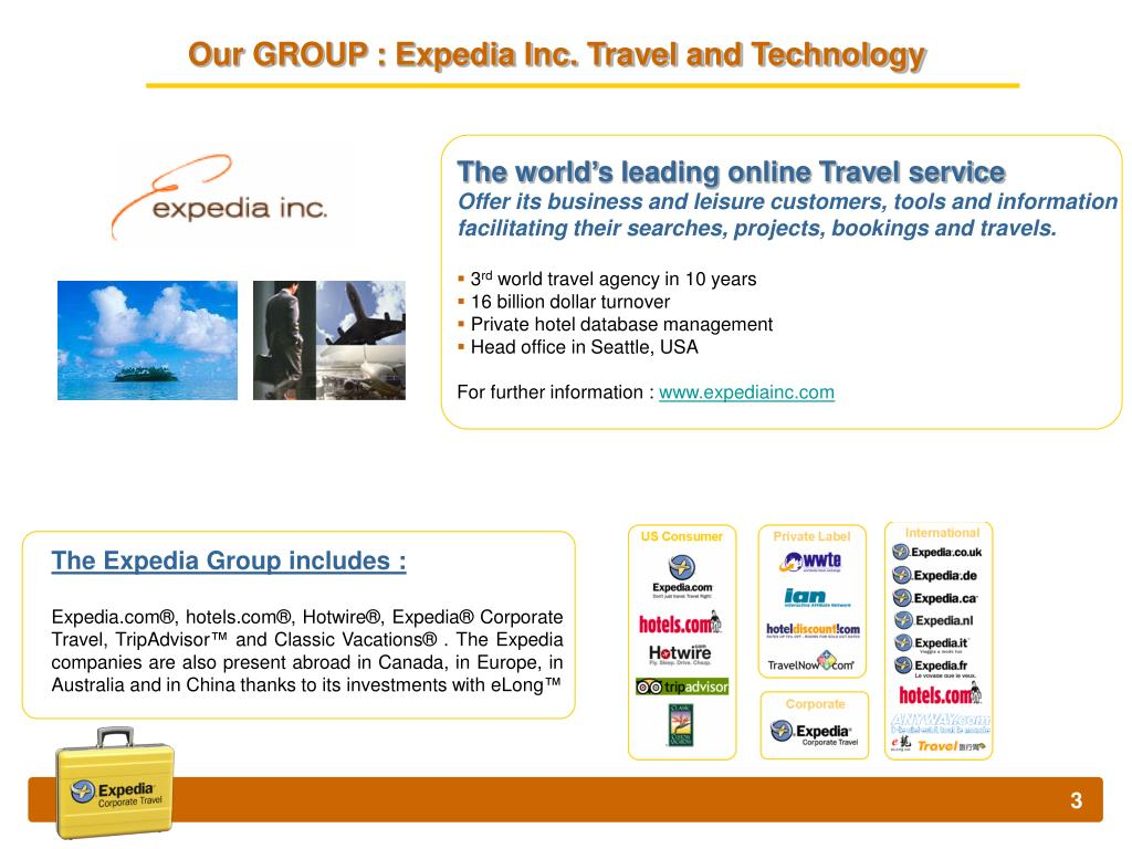 The Expedia Group includes :