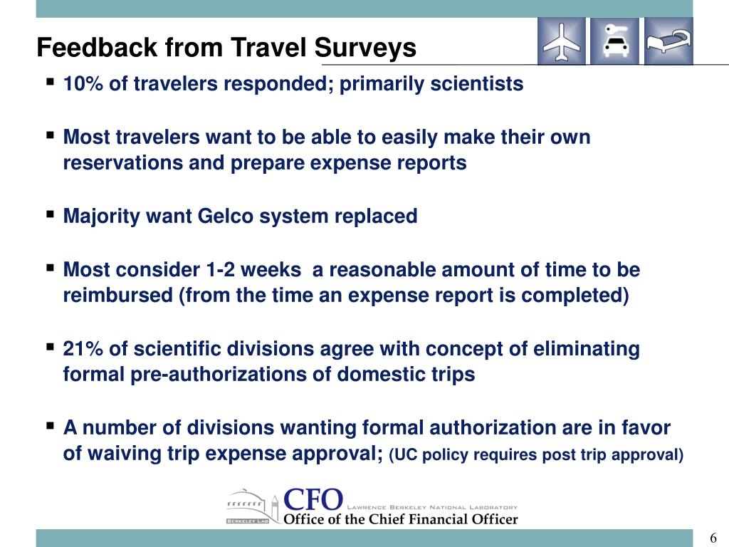 Feedback from Travel Surveys