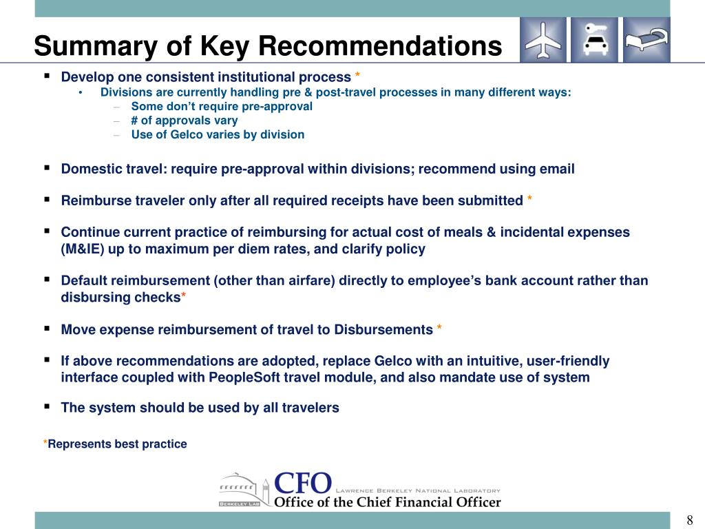 Summary of Key Recommendations