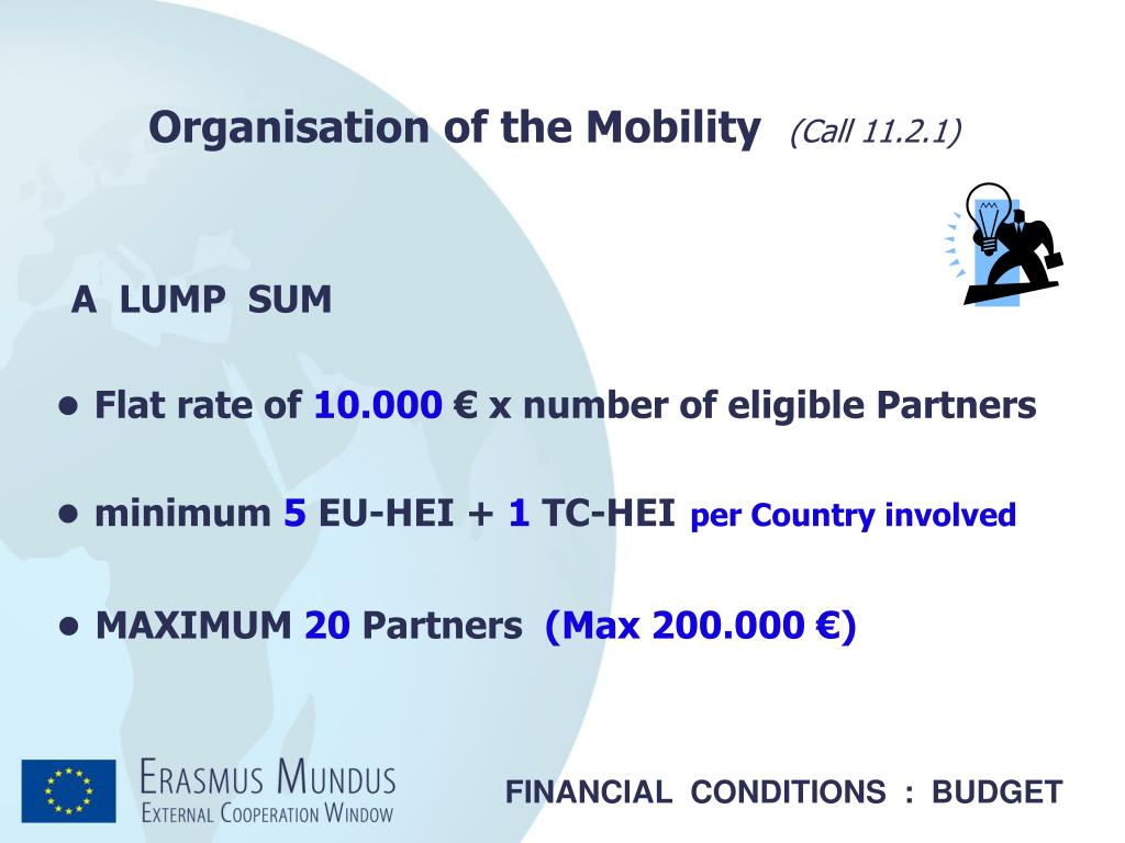 Organisation of the Mobility