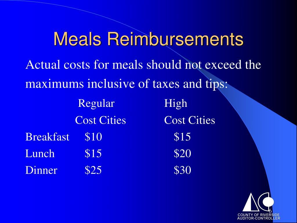 Meals Reimbursements
