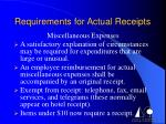 requirements for actual receipts7
