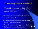 travel regulations general