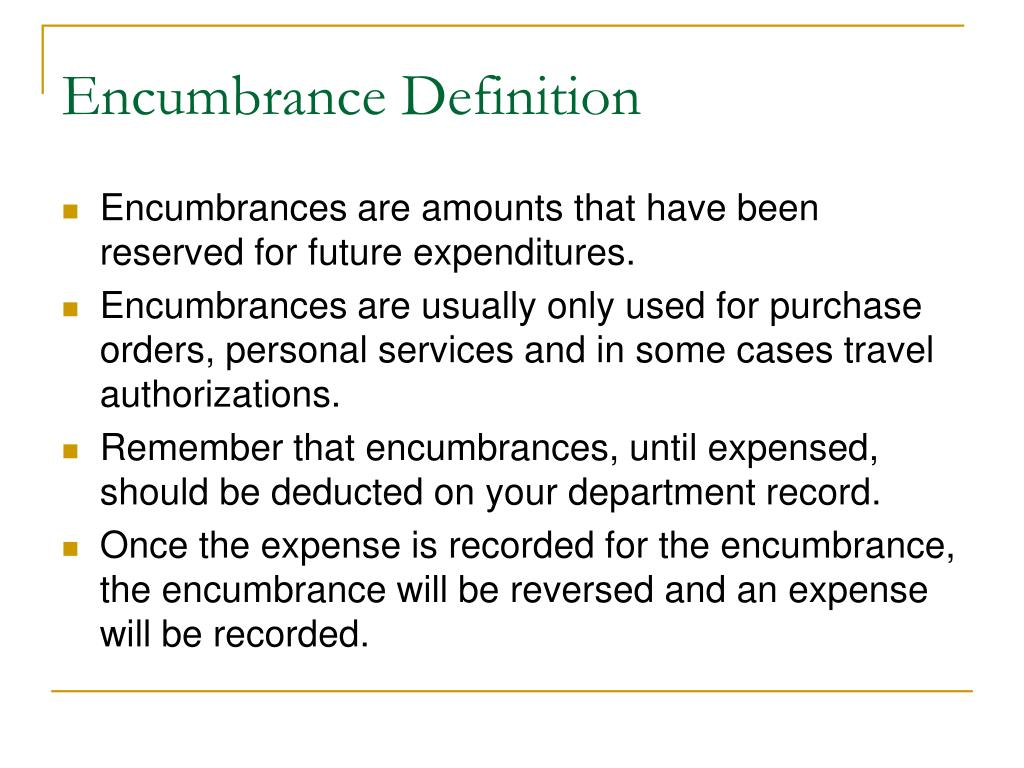 Encumbrance Definition