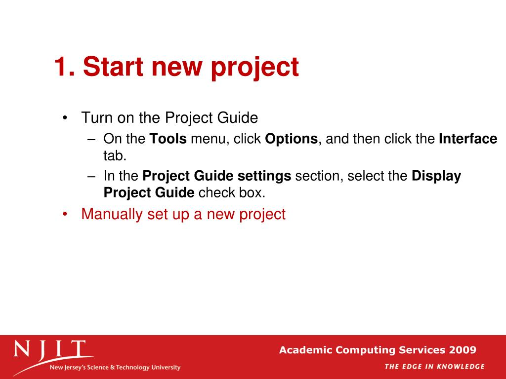 1. Start new project