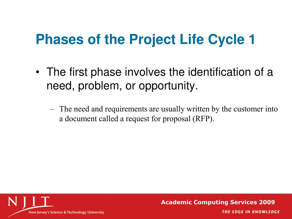 Phases of the Project Life Cycle 1