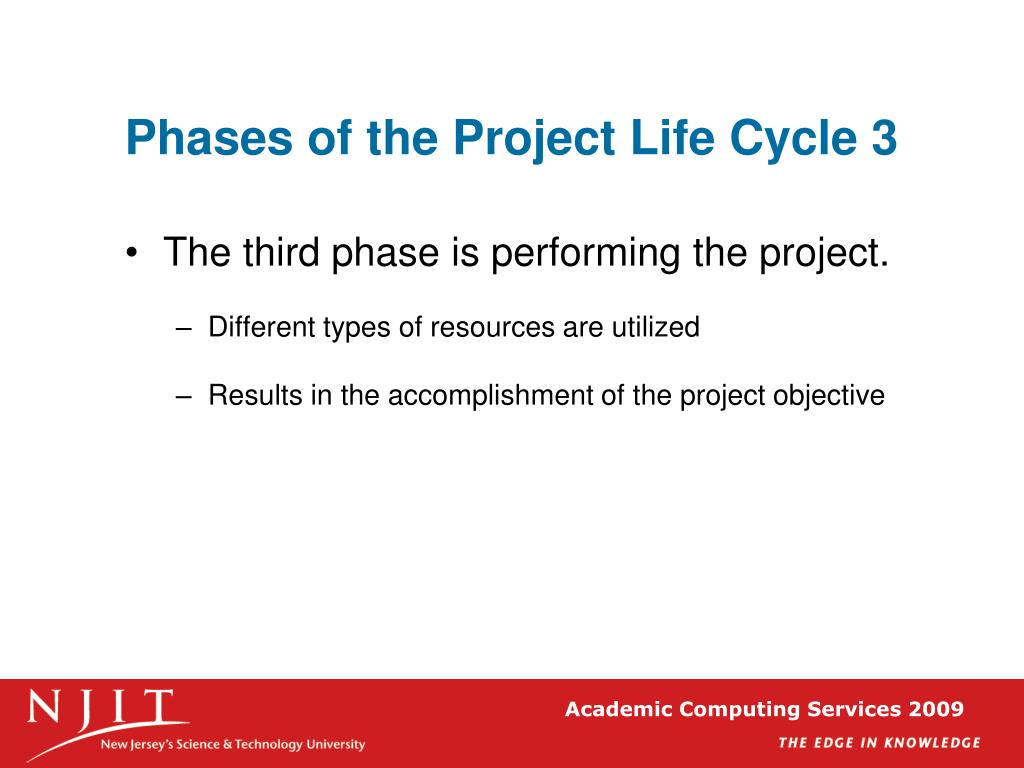 Phases of the Project Life Cycle 3