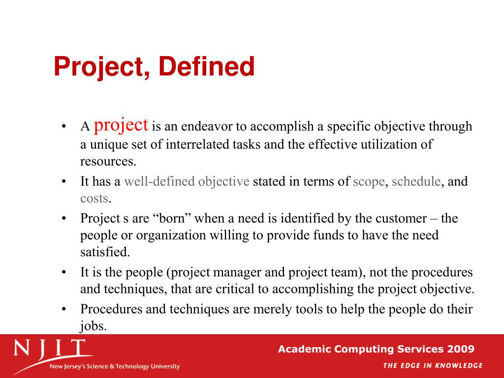 Project, Defined
