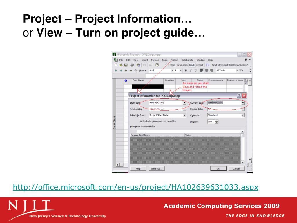 Project – Project Information…