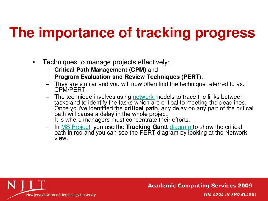 The importance of tracking progress