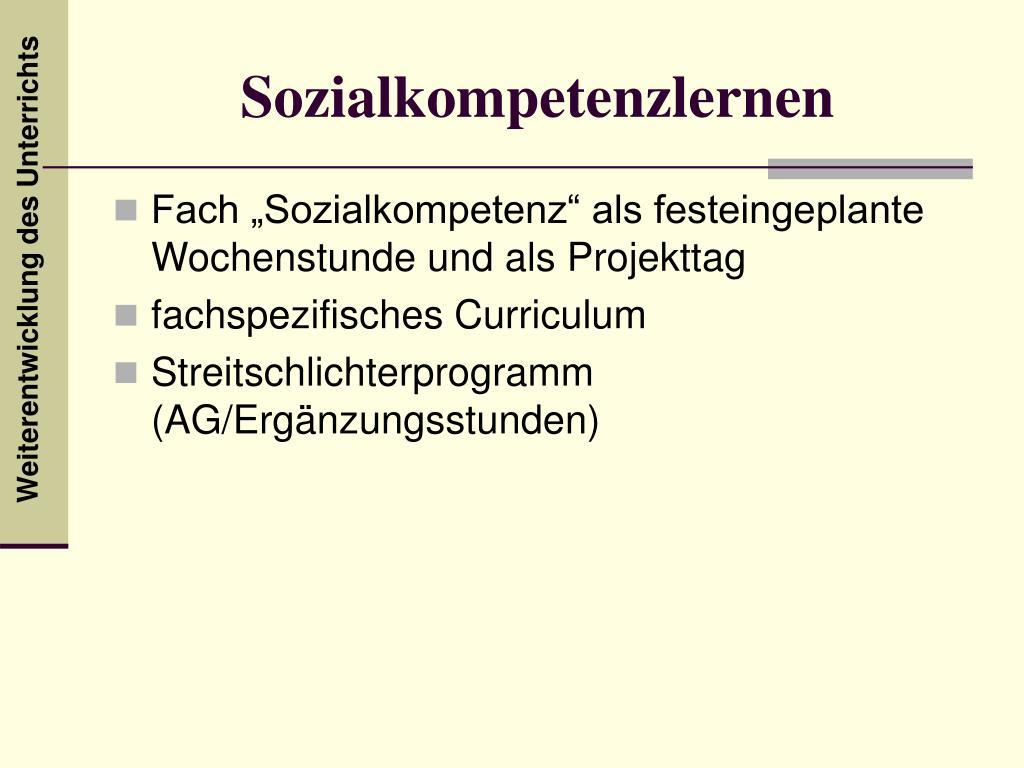 Sozialkompetenzlernen