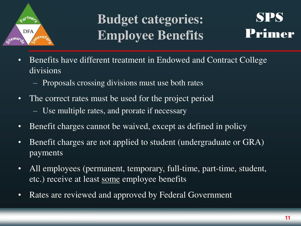 Benefits have different treatment in Endowed and Contract College divisions