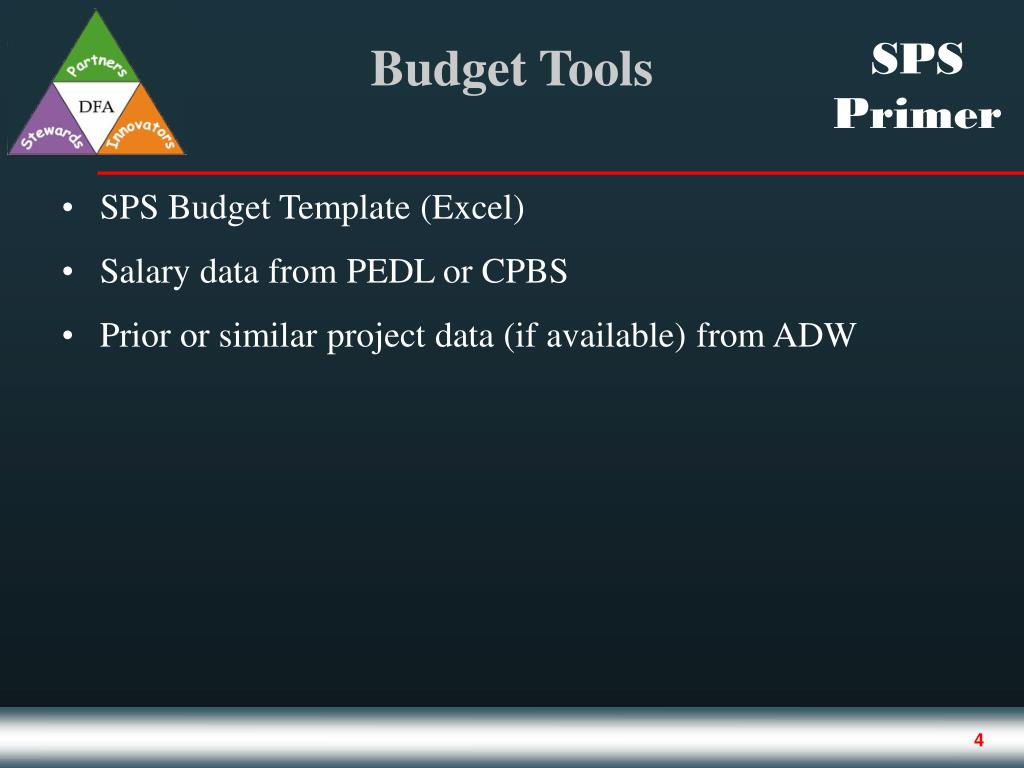 SPS Budget Template (Excel)