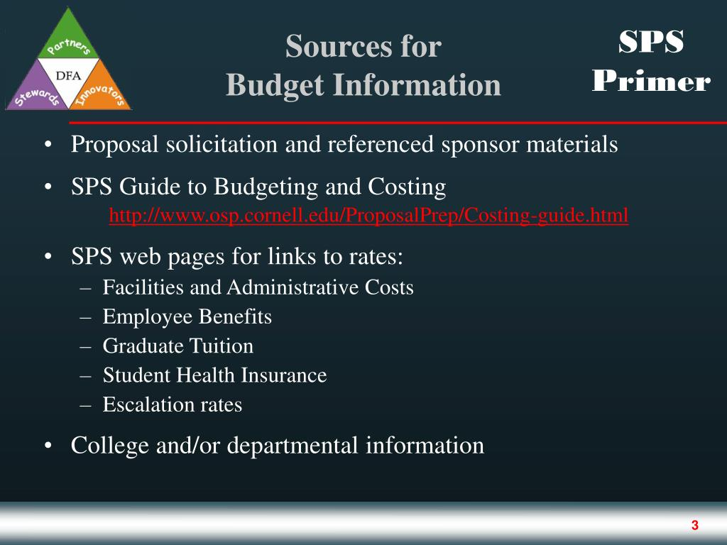 Proposal solicitation and referenced sponsor materials