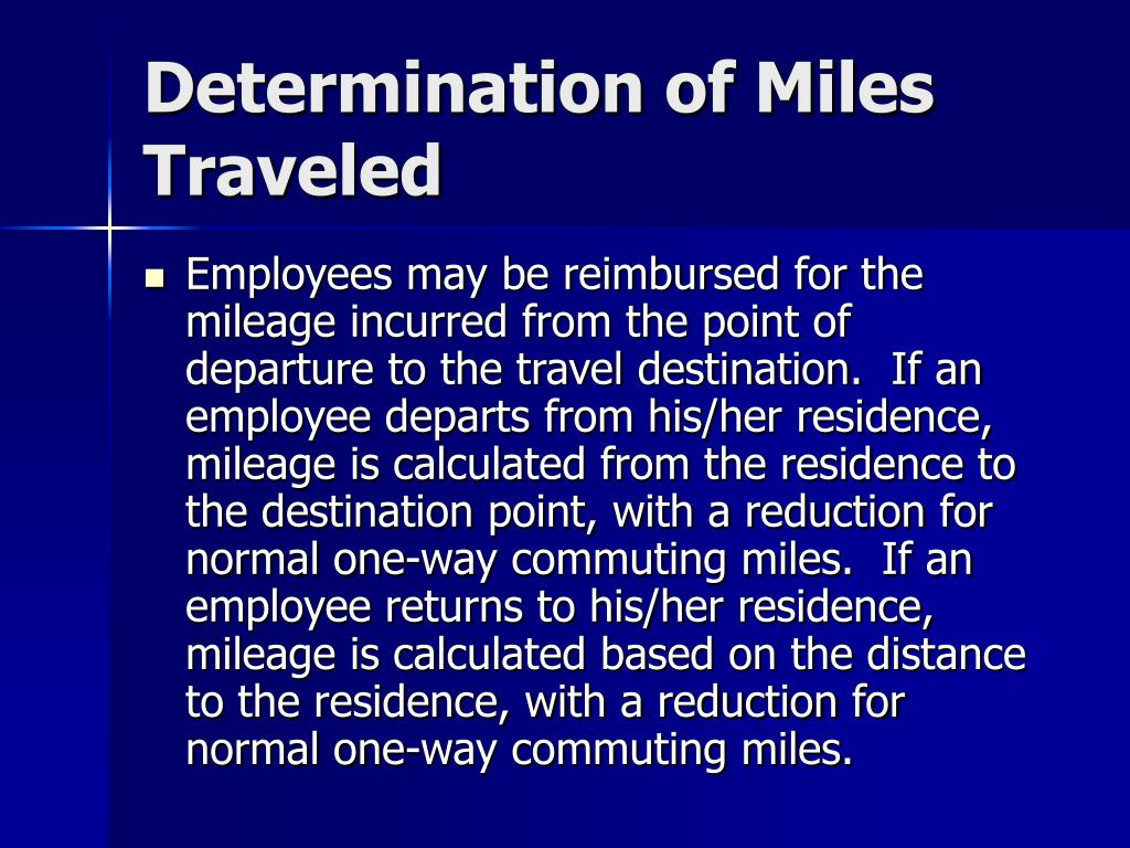 Determination of Miles Traveled
