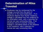 determination of miles traveled