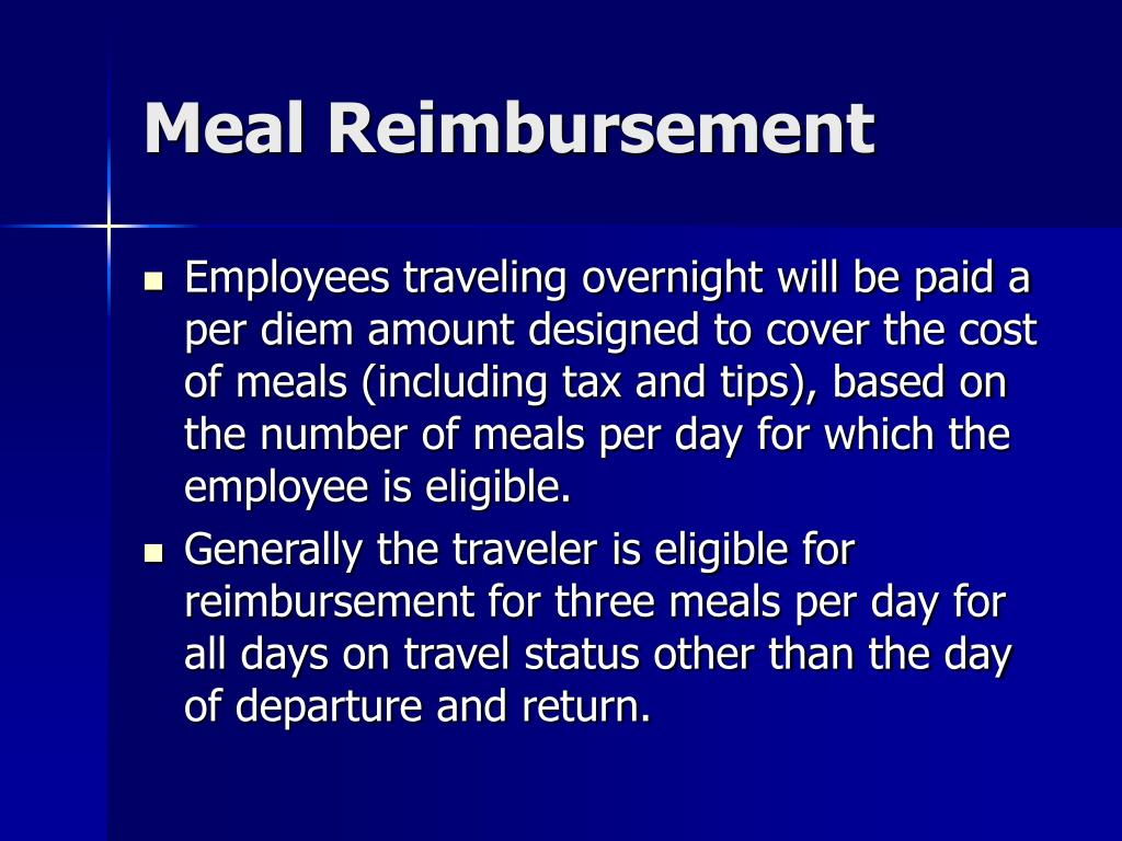 Meal Reimbursement