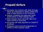 prepaid airfare