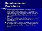 reimbursement procedures46