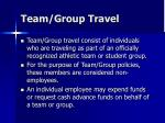 team group travel