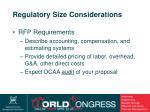 regulatory size considerations15