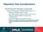 regulatory size considerations19