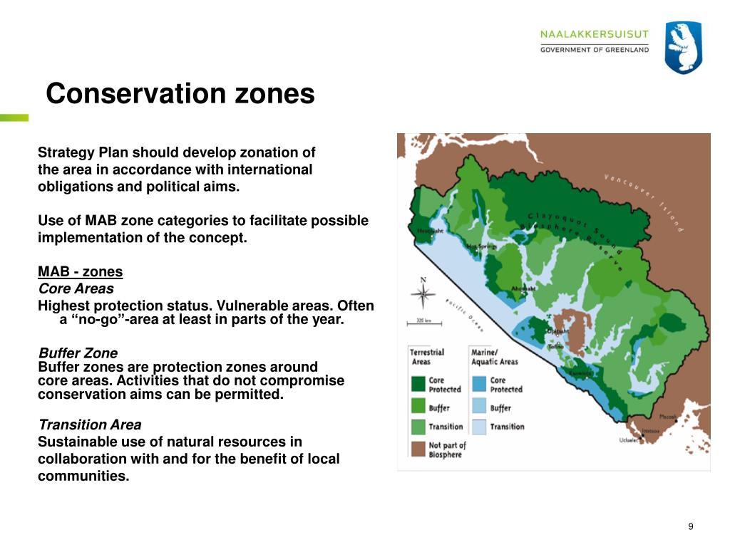 Conservation zones