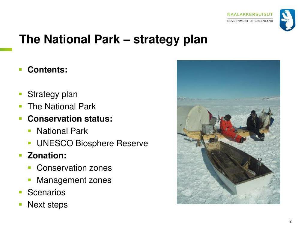 The National Park – strategy plan