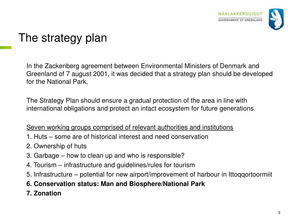 The strategy plan