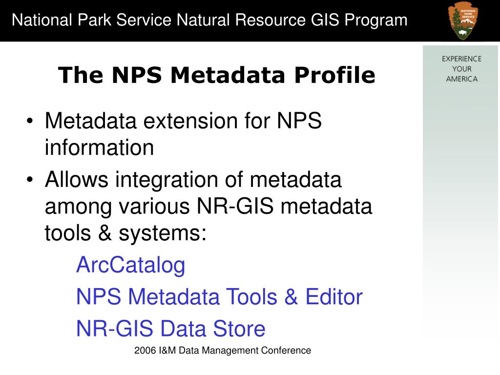 The NPS Metadata Profile