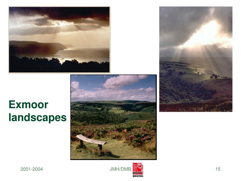 Exmoor landscapes