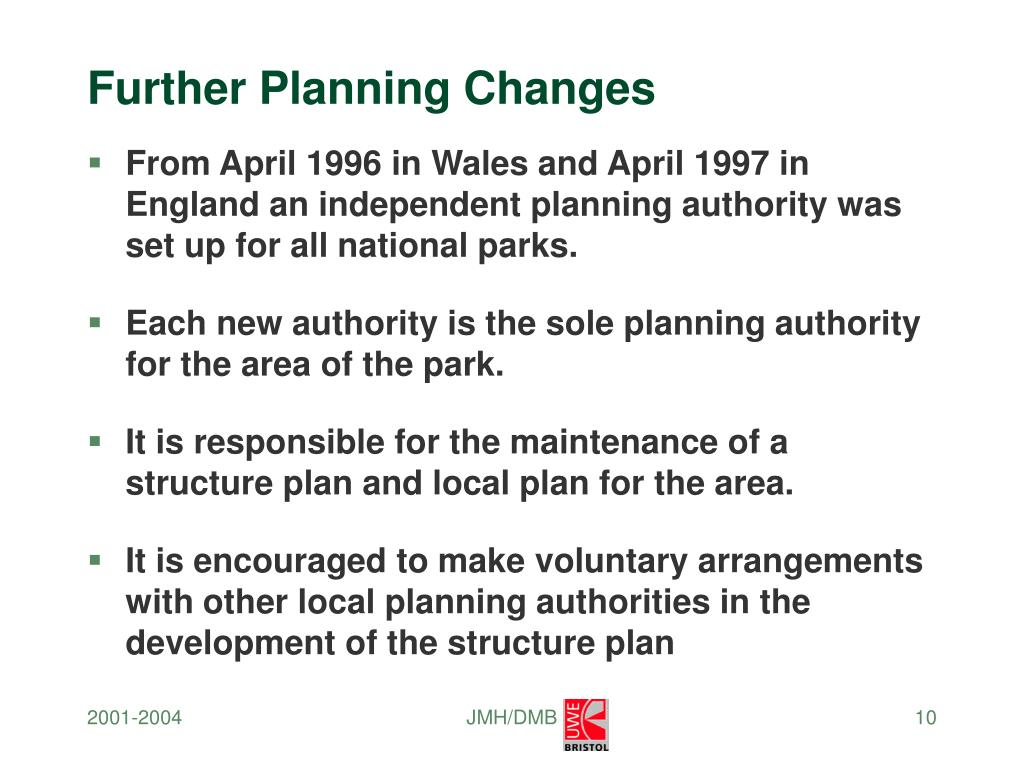 Further Planning Changes