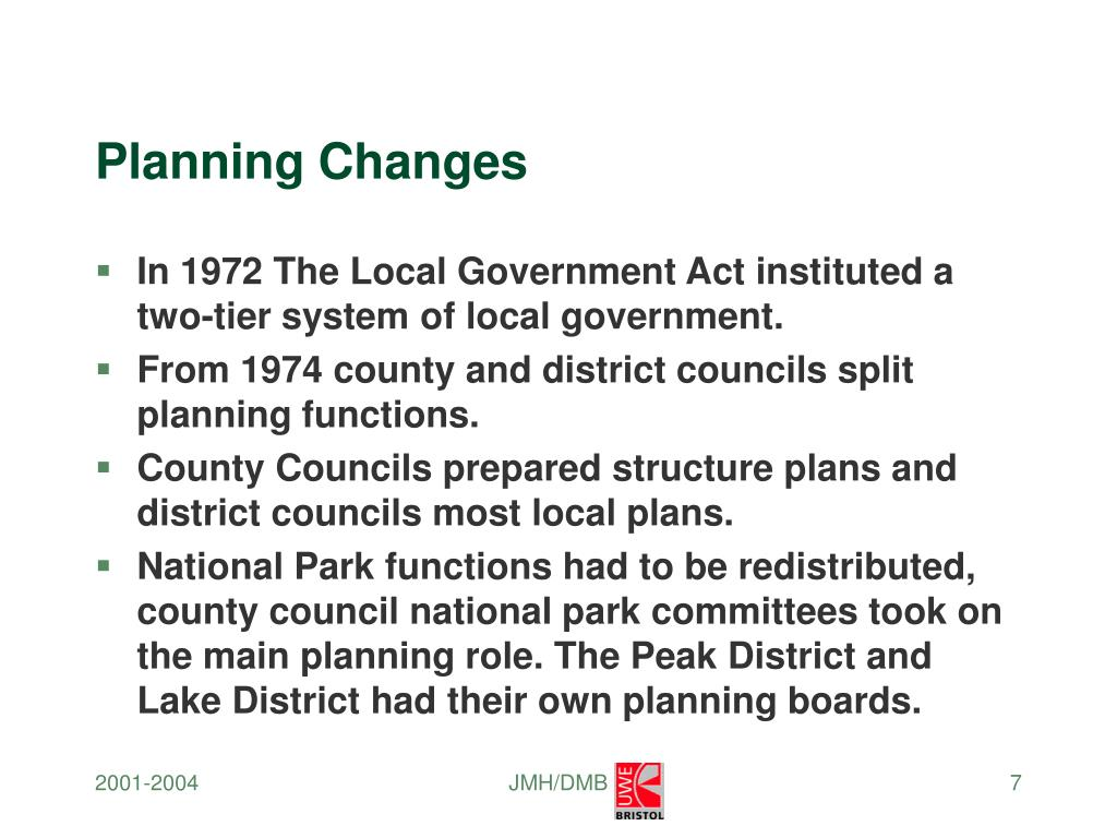 Planning Changes