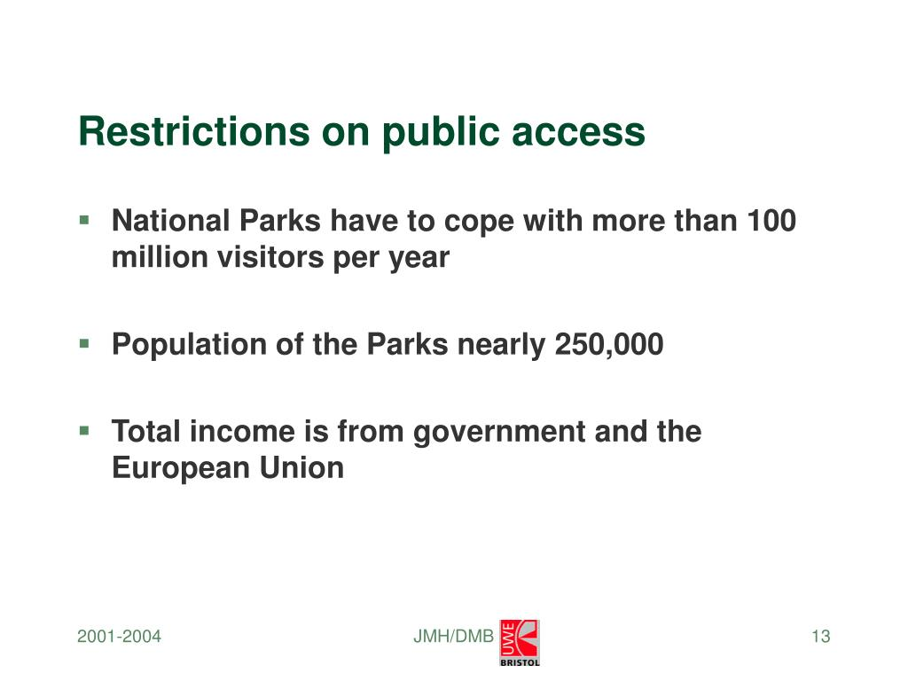 Restrictions on public access