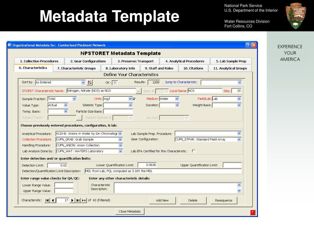 Metadata Template
