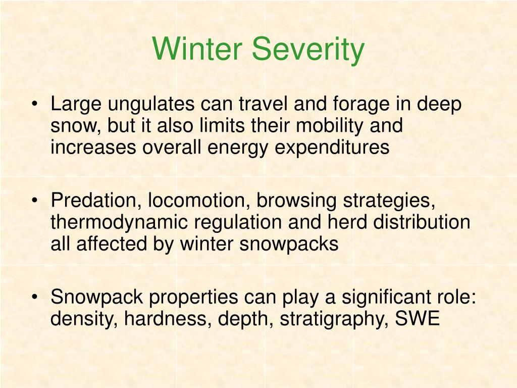 Winter Severity