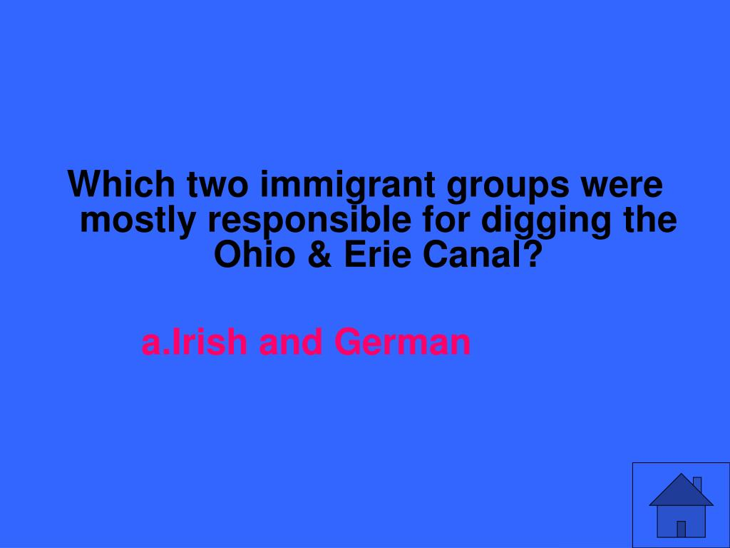Which two immigrant groups were mostly responsible for digging the Ohio & Erie Canal?