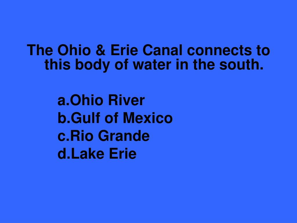 The Ohio & Erie Canal connects to this body of water in the south.