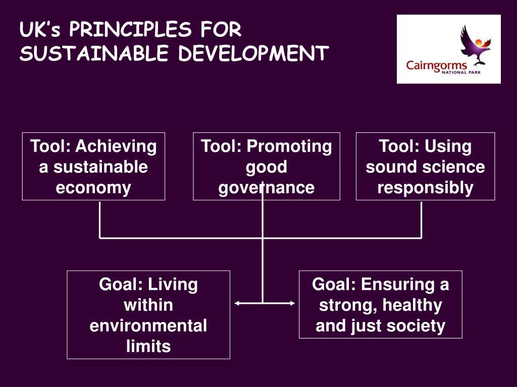 UK's PRINCIPLES FOR SUSTAINABLE DEVELOPMENT