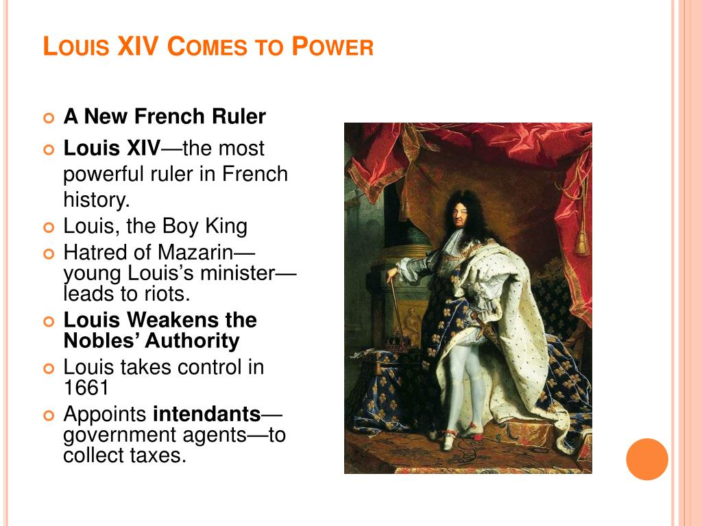Louis XIV Comes to Power