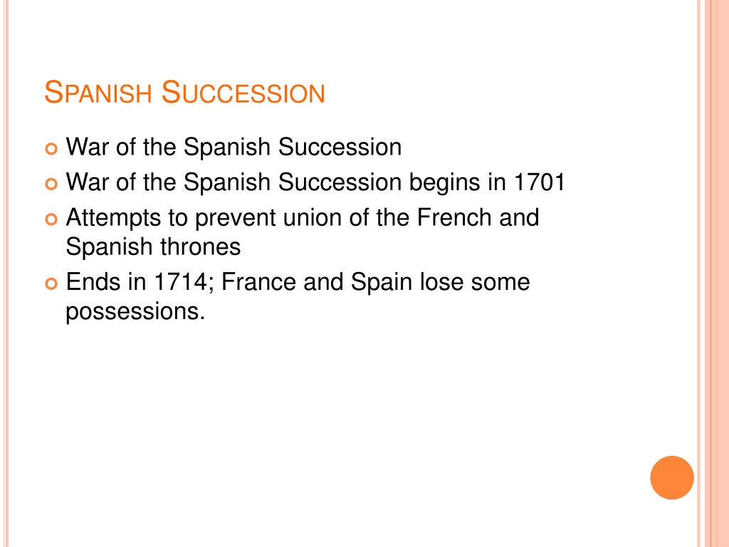 Spanish Succession