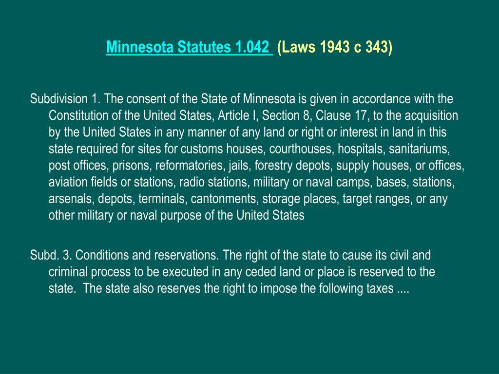 Minnesota Statutes 1.042