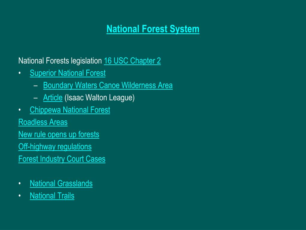 National Forest System