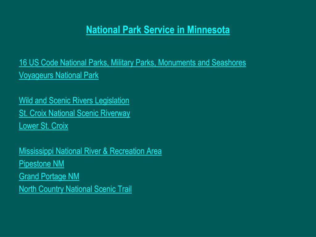 National Park Service in Minnesota