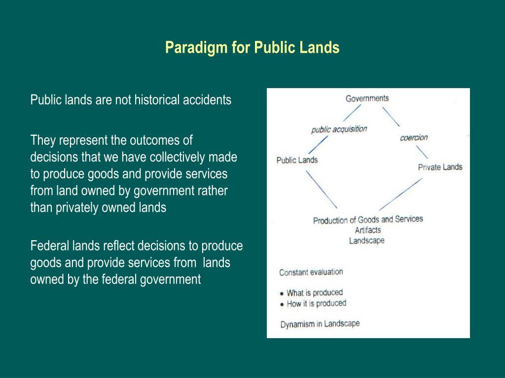 Paradigm for Public Lands